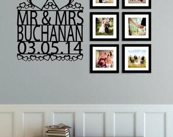 Personalised Wedding Wall Sticker