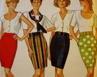 Skirt Sewing Pattern, New Look 6067,  UNCUT, Size 8-18