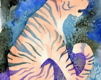 Tiger Night Chinese Zodiac Print