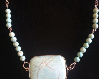 Turquoise Necklace - Square