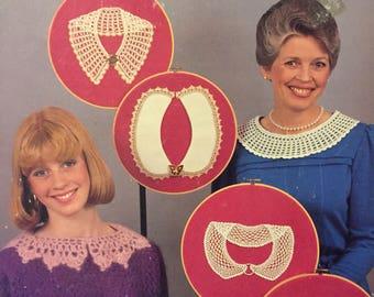"Crocheted Heirlooms ""Lacy Treasures Collars"" Crochet Patterns  by Helen Haywood  Six Designs"