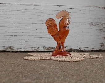 Amber Glass Rooster
