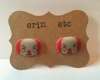 Handmade Plastic Fandom Earrings - Horror - Pennywise the clown