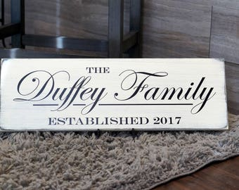 Family Established Sign - Makes a great way to display your Family Name and Wedding Date!