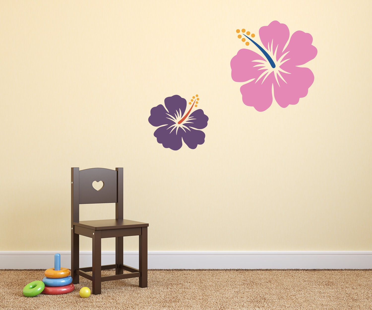 Hawaiian flower decal hibiscus decal colorful flower decal 1 izmirmasajfo Image collections