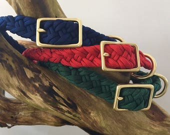 Solid Color Collar-Balsam, Navy, or Red