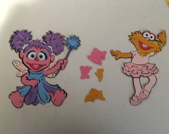 Abby Cadabby and Zoe Die cuts from Sesame Street with Character Confetti (100 total pieces)