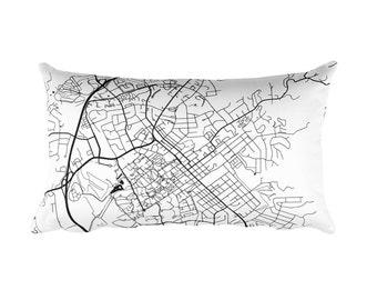 Blacksburg Pillow, Blacksburg Throw Pillow, Blacksburg Decor, Blacksburg Gift, Blacksburg Map, Blacksburg Art, Blacksburg VA, Cushion