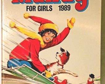 1989 MANDY For Girls Annual. Collectible Memorabilia. Nostalgia Comic Book Hard Back. Vintage Retro British