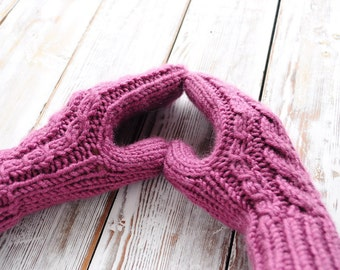 Knitted Mittens. Knitted Gloves.