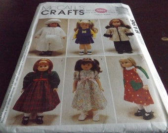 Doll Clothes Pattern McCalls 9618