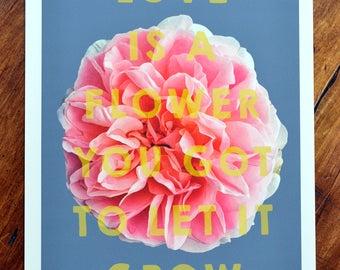 Floral art print - 'Lennon Rose'