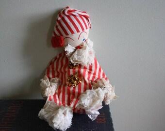 Fabric Posable Clown Doll