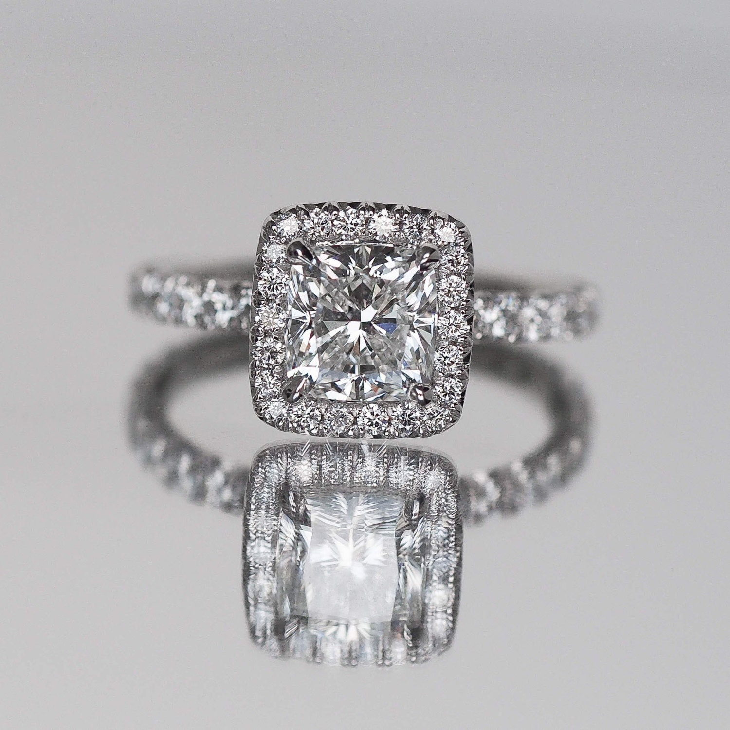 cusion certificated cushion diamond ring approximately platinum cut solitaire
