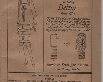 Butterick pattern including deltor 1513 slip over frock for women and young girls 17 years