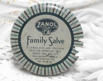 Vintage Family Salve Zanol Tin Cincinnati Ohio