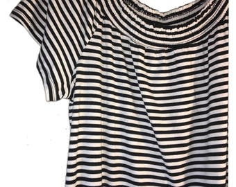 Black and white stripped dress