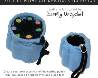 Essential Oil Drawstring Pouch Pattern