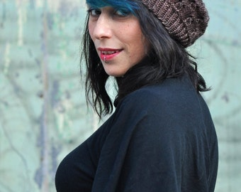 Banksia slouchy beret Hat PDF knitting pattern (instructions)