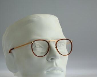 Country 51, Vintage round eyeglasses, 90s mens & women panto optical frame, unique and rare / NOS