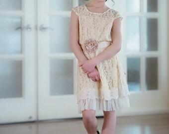 flower girl dresses , lace flower girl dress ,toddler dresses, rustic girl dress , country flower girl dress, Baby dress, junior brides maid