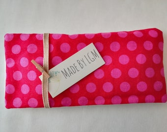 Lavender Eye Pillow, Yoga Eye Pillow, Herbal Eye Pillow, Lavender Eye Mask, Relaxation, Yoga, Meditation, Pink polka dots