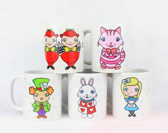 Alice In Wonderland Mug Handmade Sublimation Mug Alice In Wonderland Gift