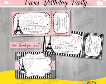 Pink poodle paris birthday party invitations french poodle paris birthday invitation paris birthday invite printable paris party invitation parisian birthday invitation filmwisefo Gallery