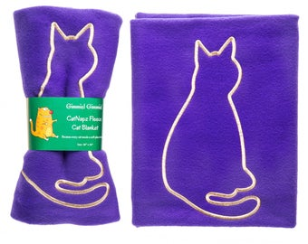 Fleece Cat Blanket, Thermal Cat Blanket, Use as Cat Bed Blanket, Cat Bed Mat or in Cat Carrier or Cat Kennel, Custom Made in the USA