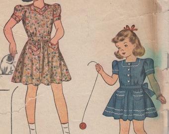 Sz 6-1940's Girl's Dress Simplicity 4103