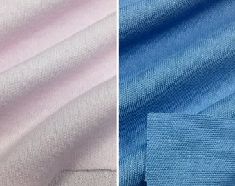 Cotton Blend Interlock Knit Fabric (Wholesale Price Available By The Bolt) USA Made Premium Quality - 7248 - 1 Yard