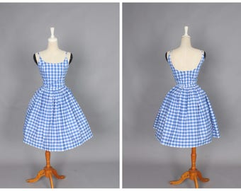 "Penelope Dress ""Morocco Blues"" Blue Gingham"