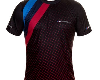 BMW M Performance Red Points Black Short Sleeve Cool T Shirt Auto Car Graphics Tee