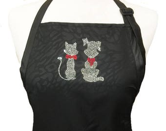 Ladybird Line Cat and Dog Women Crystal Rhinestone Transfer Iron On T-shirt Aprons Jackets Tank Top Hoodies Tote Bags and Caps Crafting