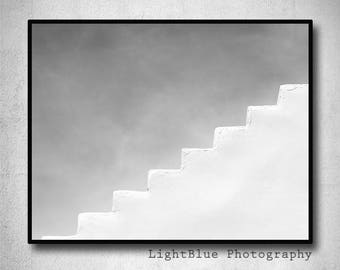 Minimal photography Stairs Photography Architecture photography Modern Minimal print Greece photography Greek art photography Fine art print