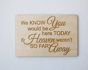 Custom Wooden Memorial Sign (with stand)