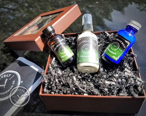 Premium Shaving Gift Box - Medium Shaving Basics Kit - 12 Scent Options