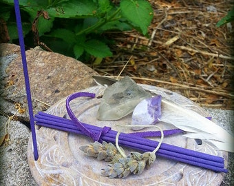 Hand Rolled Japanese Woodless Incense-Pay with PayPal get a free spell in the box! 10 Stick Packs-Lavender-Organic, Woodless, Smudging