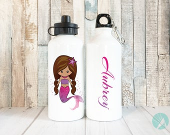 Mermaid Water Bottle, Personalized Water Bottle, Gifts for Kids, Mermaid Birthday, Kids Water Bottle, Personalized Mermaid Cup, Kids Gifts