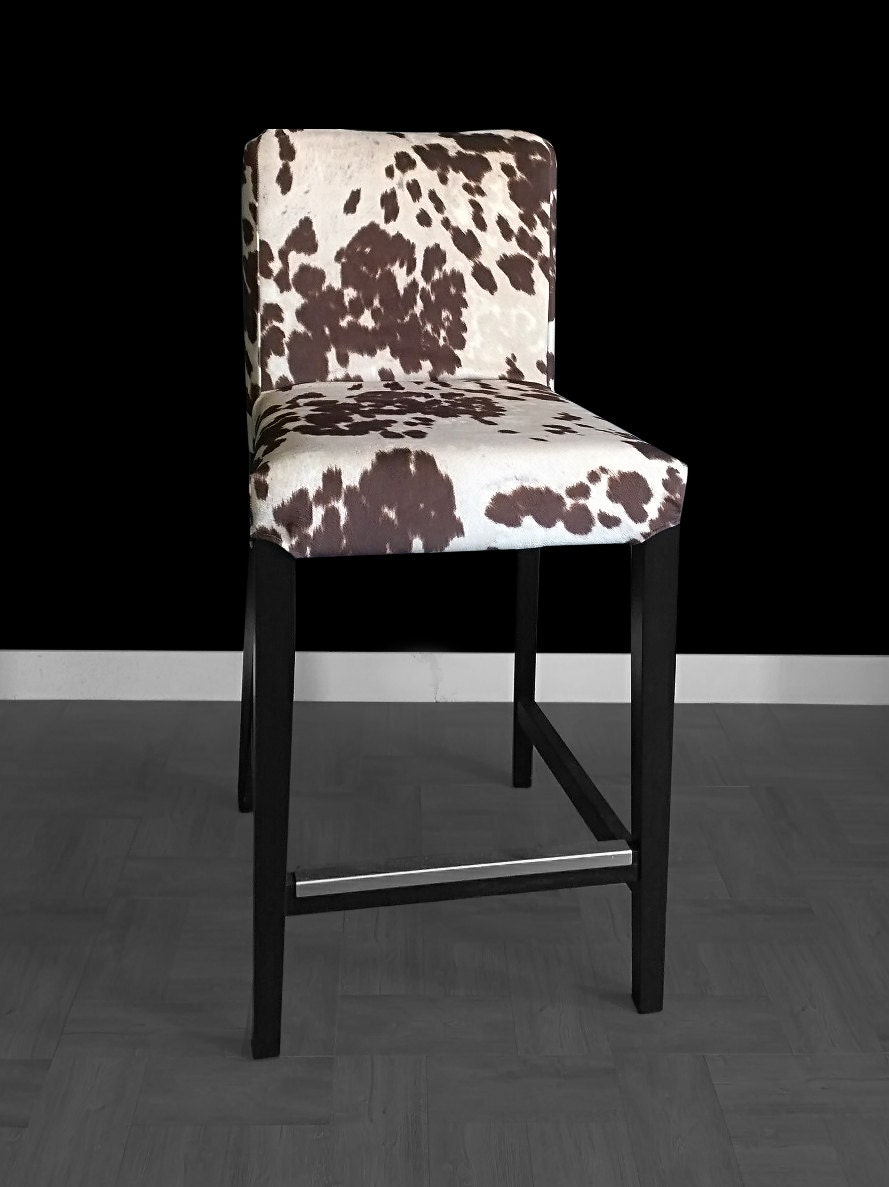 Ikea Henriksdal Bar Stool Chair Cover Cow Print Ikea Slip