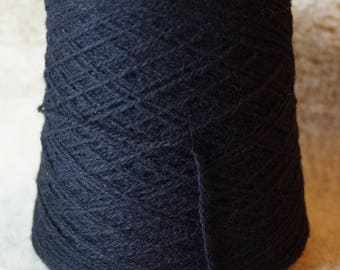 sport weight cone: Black  2 ply wool yarn from Bartlettyarn sale