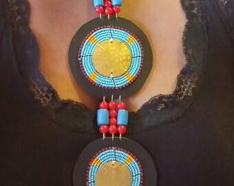 African Bib Statement Necklace