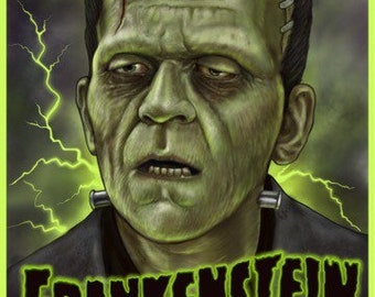 Frankenstein 1931 -  A3 Print