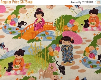 Spring Sale Kimono Tea (in orange)- Infant or Toddler Bib - Terry Cloth Backing - Reversible with ADJUSTABLE Snaps