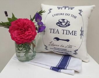 SALE! French-Vintage Style Tea Time Mini Kitchen Cushion