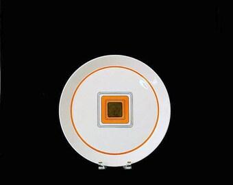 "Vintage Mid Century Modern MIKASA Duplex by Ben Seibel AXIOM 2532 Geometric Square Serving Platter 12.5"" 1970s Classic Dinnerware Pattern"