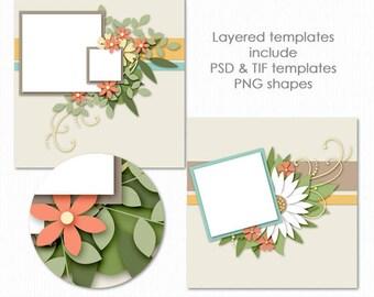 Blooming Templates for Digital Scrapbooking