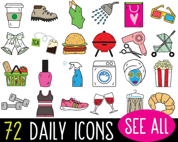 mega bundle daily planner sticker clipart vector bullet rh etsy com sticker clipart free download car stickers clipart