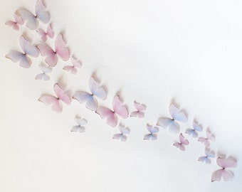 3D Wall Butterflies- Light Pink and Purple Princess Mix Set of 20
