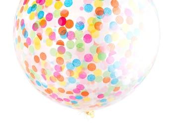 """Confetti Balloon / Jumbo Multicolor 36"""" Balloon"""